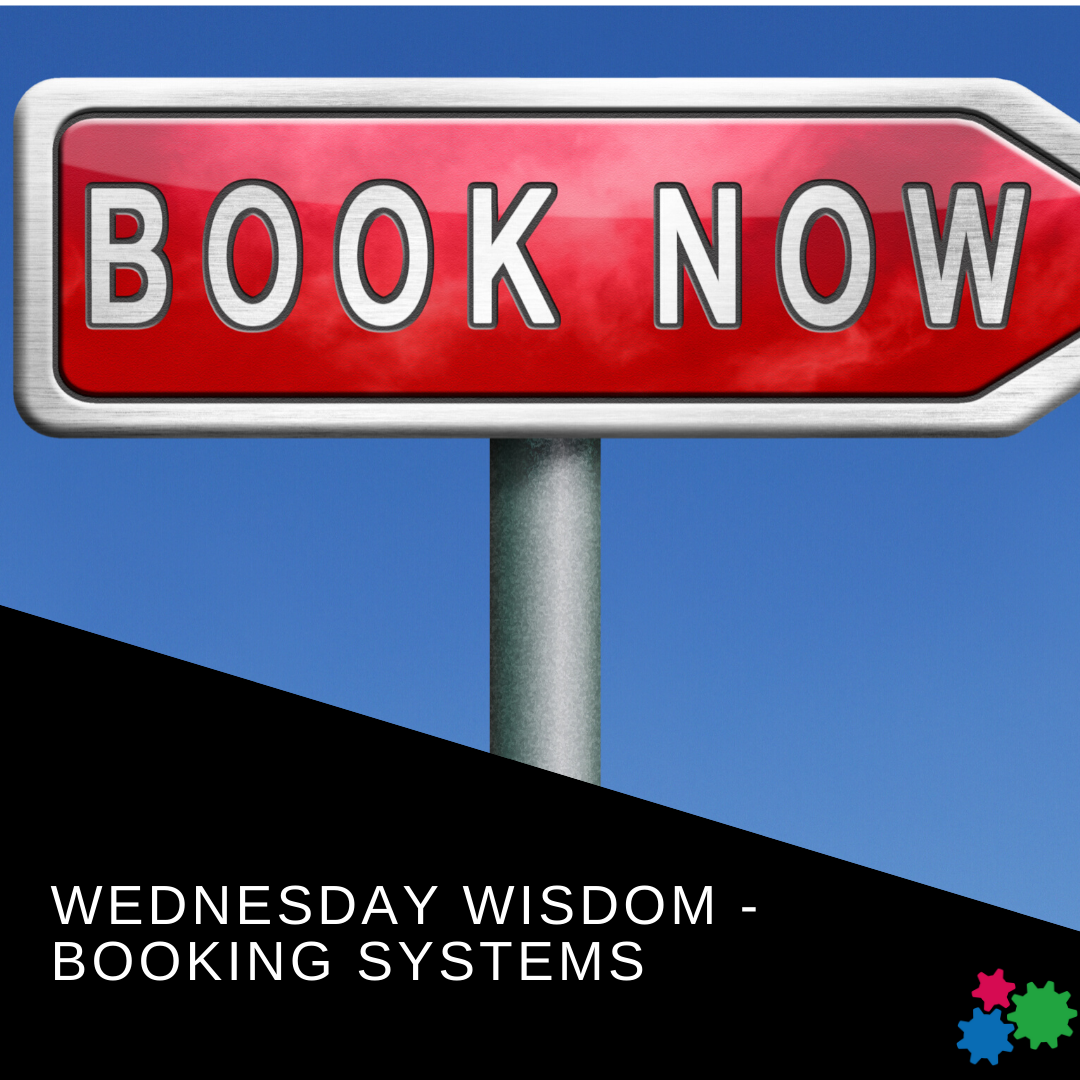 Wednesday Wisdom  – Booking Software  NEW VIDEO IN OUR FACEBOOK GROUP - https://www.facebook.com/groups/gearingupforsuccess/…  #wednesdaywisdom #bookings #businesscoaching #businessgearspic.twitter.com/VOEqbK0AQs