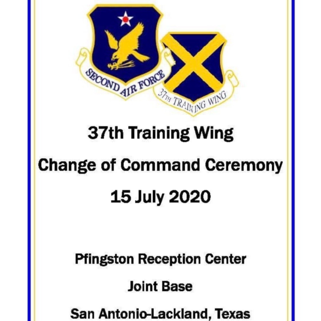 Join us! We will be going LIVE on Facebook tomorrow morning to bring you the 37th Training Wing Change of Command Ceremony starting at 8:30. Let us know if you will be tuning in!