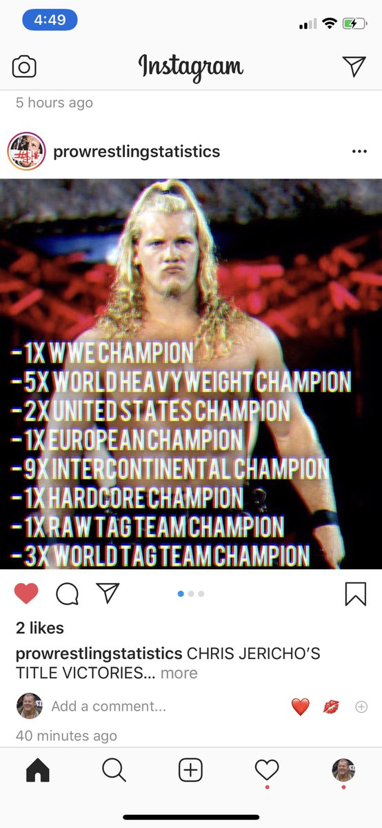 Thanks to #ProWrestlingStatistics on @instagram for compiling this partial list of all my championship victories! @AEWrestling @WWE @njpw1972