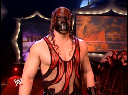 In the 2001 Royal Rumble, Kane wore a mask for 54 minutes and eliminated 11 people.   You can wear one to Aldi. https://t.co/3TbKYwk4Ur