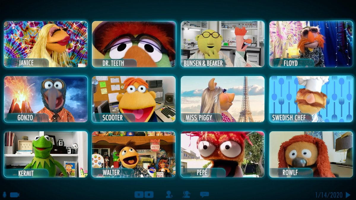And you thought your video meetings were strange! Get an inside look at how @TheMuppets reacted to the news that their new series received a greenlight. #MuppetsNow is streaming July 31 only on #DisneyPlus.