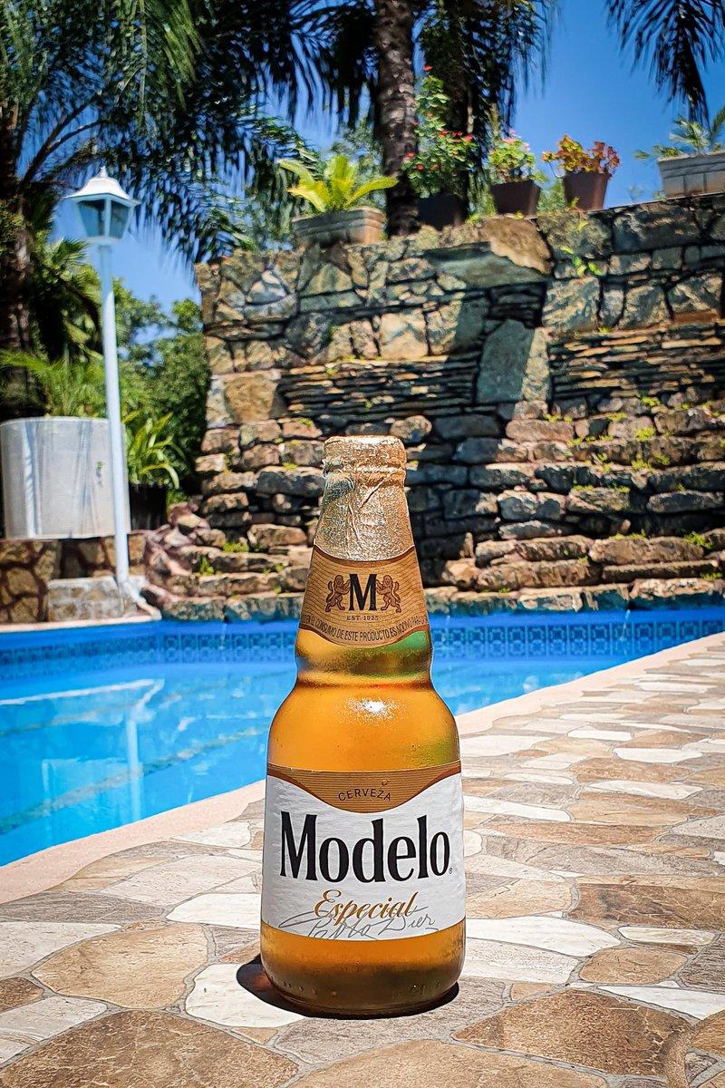 """Mira nada más, a quien no se le antoja andar asi en estos momentos... Chingandote una cerveza bien """"muerta"""" en la alberquita..  🍺 Modelo Especial 🏷 Clara 🥴 4.5% Alc. Vol. 💧 355ml 📍CDMX 💸 $18 mxn. ©LordCerveza #beer #cerveza #modelo #grupomodelo #modeloespecial #lordcerveza https://t.co/Gu7PvZdTpp"""