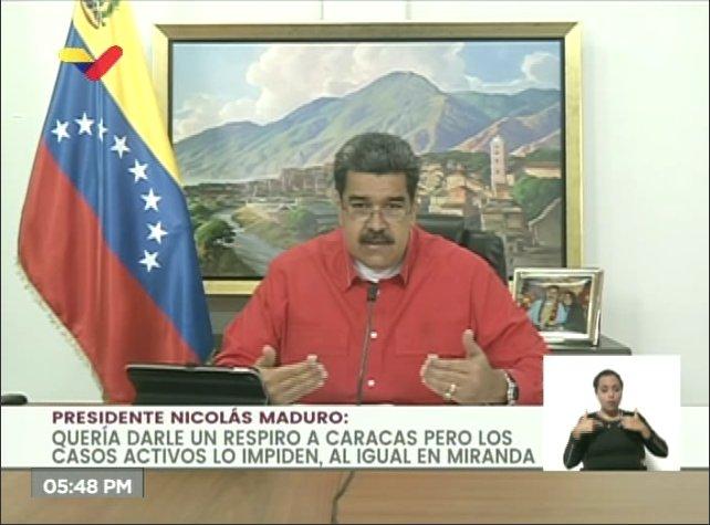 #AHORA El Presidente Nicolás informa este martes de 303 casos de Covid-19 el día de hoy. De ellos, 281 son de transmisión comunitaria, 42 son de Caracas y 56 de Miranda. Hay 22 casos importados y 3 fallecidos (SIGUE)