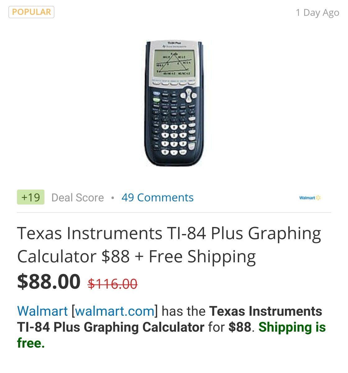 How does #TI still sell this trash. Shouldn't the price of this 95 pixel garbage-puter be about 40 cents??? I can buy a used 32 gig iphone Se for 88 bucks. Pretty sure TI should just be making apps at this point to be used on multi-use learning devices running #Android or #ios. pic.twitter.com/L2rlS8zKV7