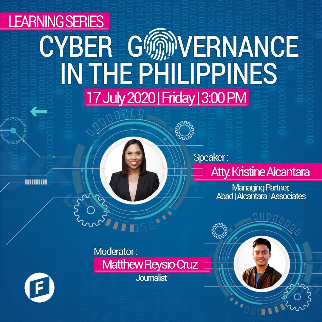 The Learning Series is back!   @legalgorithm , and @MatthewINQ will talk about regulations that govern the cyberspace in the Philippines, exploring the security measures that protect Filipinos online. Join us on Friday, July 17 at 3:00 pm. https://t.co/eqnjWW2JnM