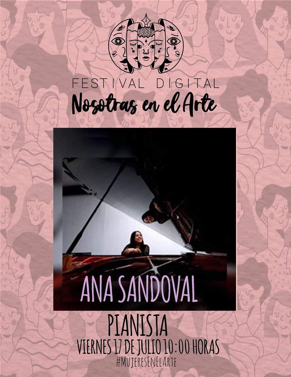 Este viernes estaré participando en el Festival Digital de @nosotrasenelarte. ¡Nos vemos a través de Facebook live a las 10 am!  #piano #pianista #musica #tuxtlagutierrez #chiapas #NosotrasEnElArte #Mujeresenelarte #womeninmusic #womeninart #mujeresenlamusica #festival #online https://t.co/MeVs2lWjBs