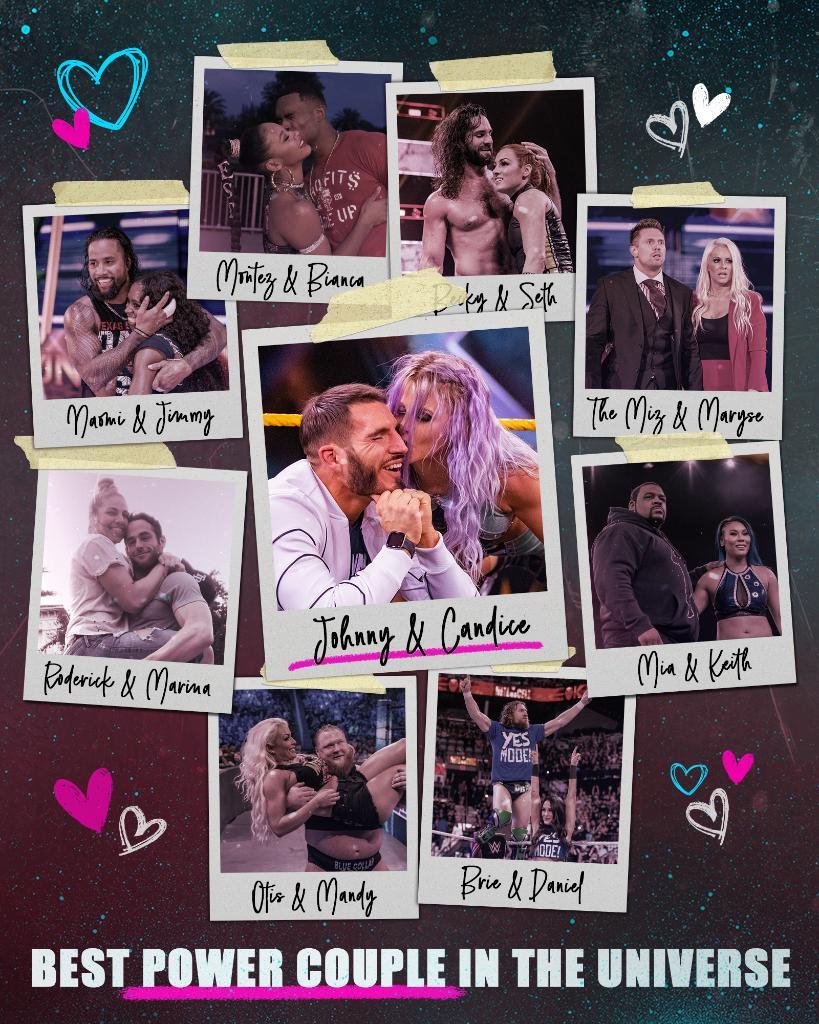 RT @WWENXT: This feels correct. #BestPowerCoupleInTheUniverse #WWENXT @JohnnyGargano @CandiceLeRae https://t.co/qOtlUmHdSc