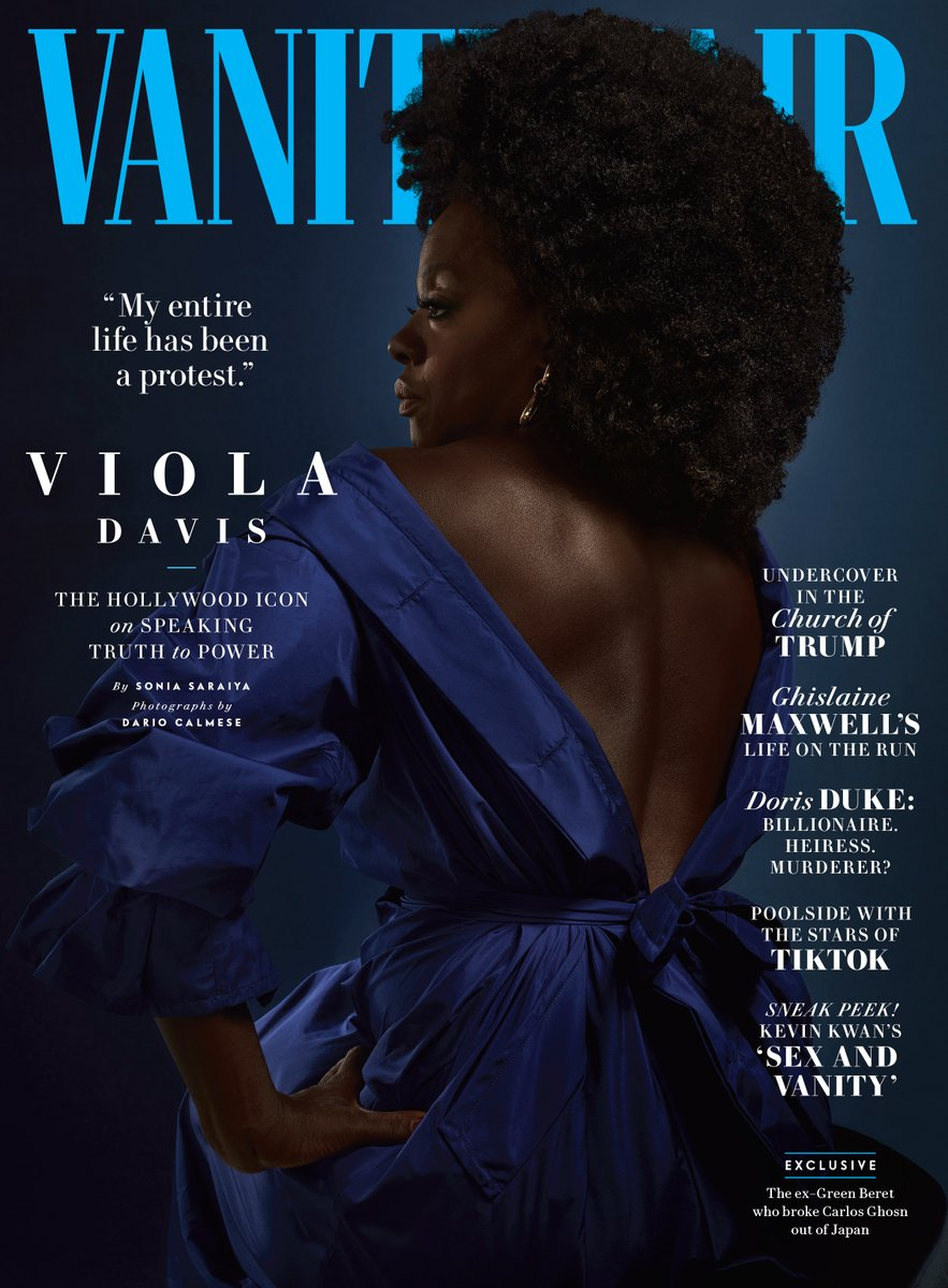 An absolutely stunning and powerful cover of @violadavis by Dario Calmese—the first Black photographer to shoot a @VanityFair cover.