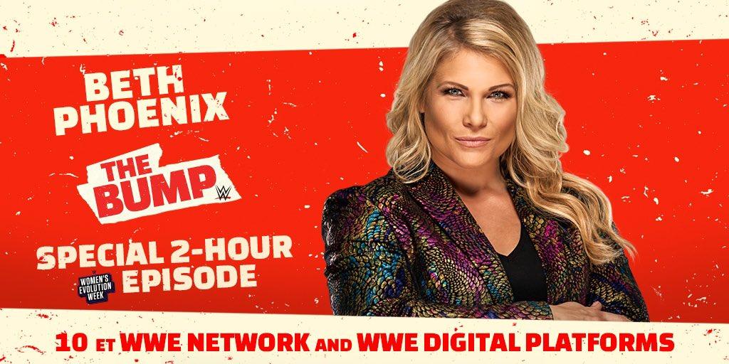 When you talk trailblazing, you gotta talk @TheBethPhoenix. #TheGlamazon will be joining us! #WWETheBump https://t.co/XdCQDyMCc6