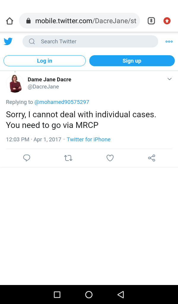 to resolve my issues while your only reply was in 2017 to go via MRCP that I was raising a complaint against it and the policy head not caring for the standards breach with me besides where is the failure result that such message is talking about while no result in my account pic.twitter.com/Z0YK5bNKCc
