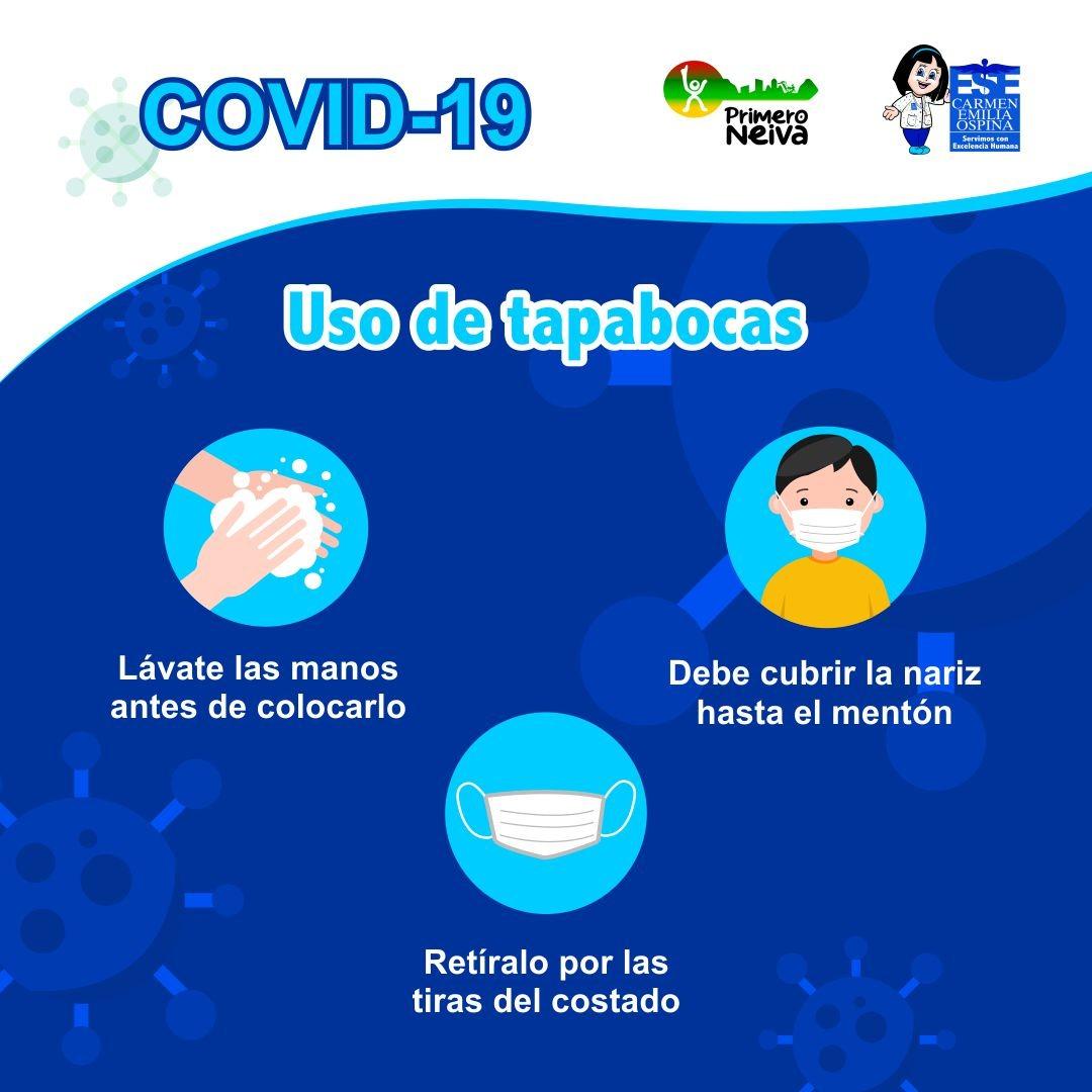 Lava bien tus manos y haz un uso correcto del tapabocas.  ¡La responsabilidad es tuya!  #NoBajemosLaGuardiapic.twitter.com/xmk4d7wxDs