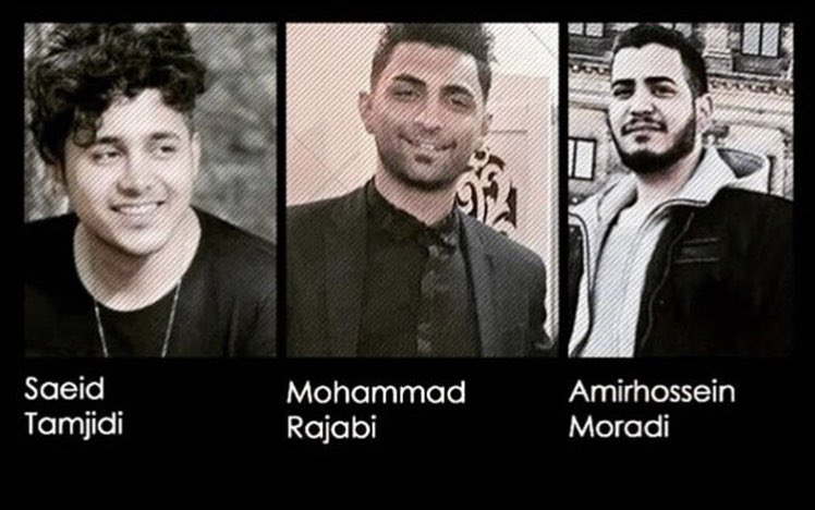 Tomorrow, the Iranian regime plans to kill these three young men for speaking out and protesting. They will be killed by order of @khamenei_ir. @JZarif   This is barbaric. And @jack let's this regime stay on Twitter. https://t.co/IouyDdyFSP