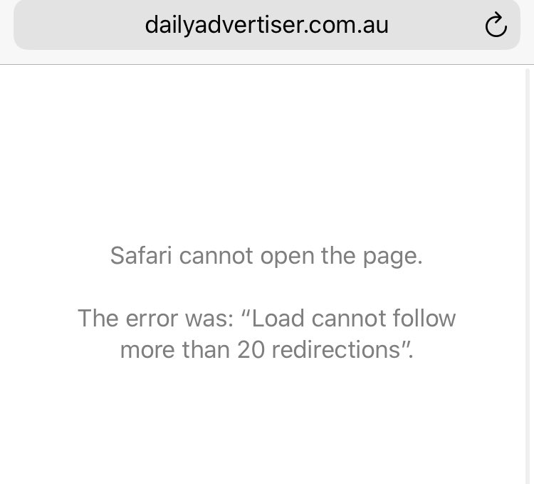 @Tuxy81 @DailyAdvertiser when trying to read the Turvey park coaches story link not working... every other article works fine.