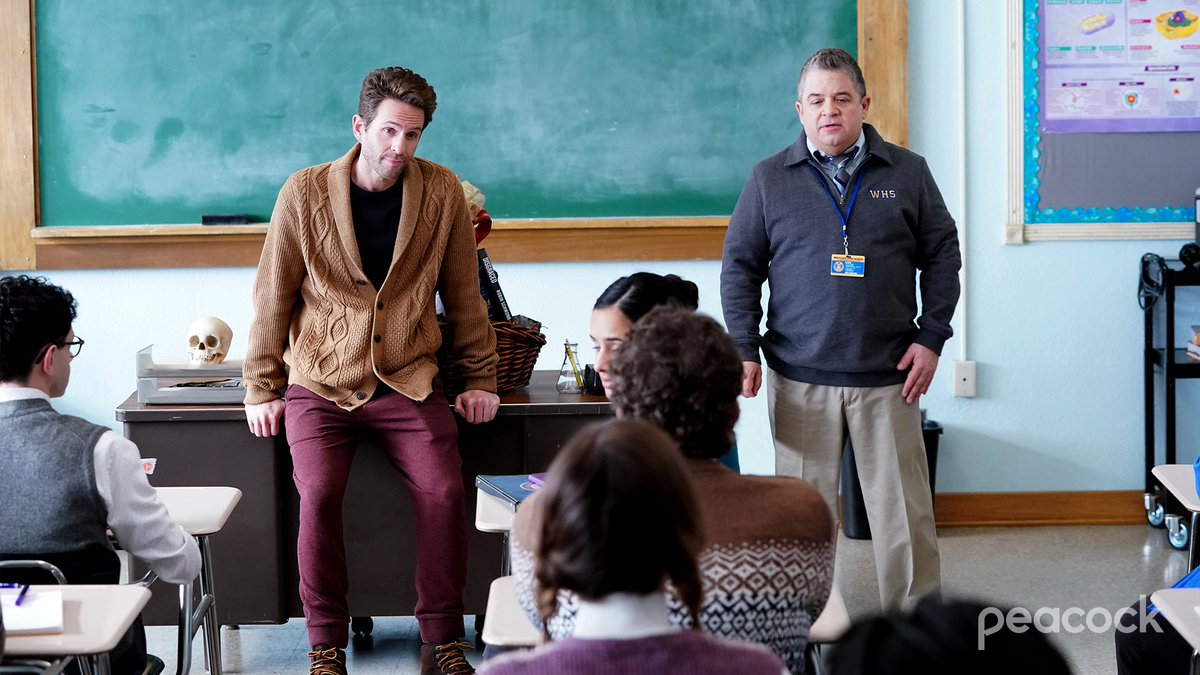 WE'RE COMING BACK!!! Thursday, September 3rd! Season Three of #APBio on @peacockTV!  I'm wearing more sweaters! https://t.co/4n2NID4eeB