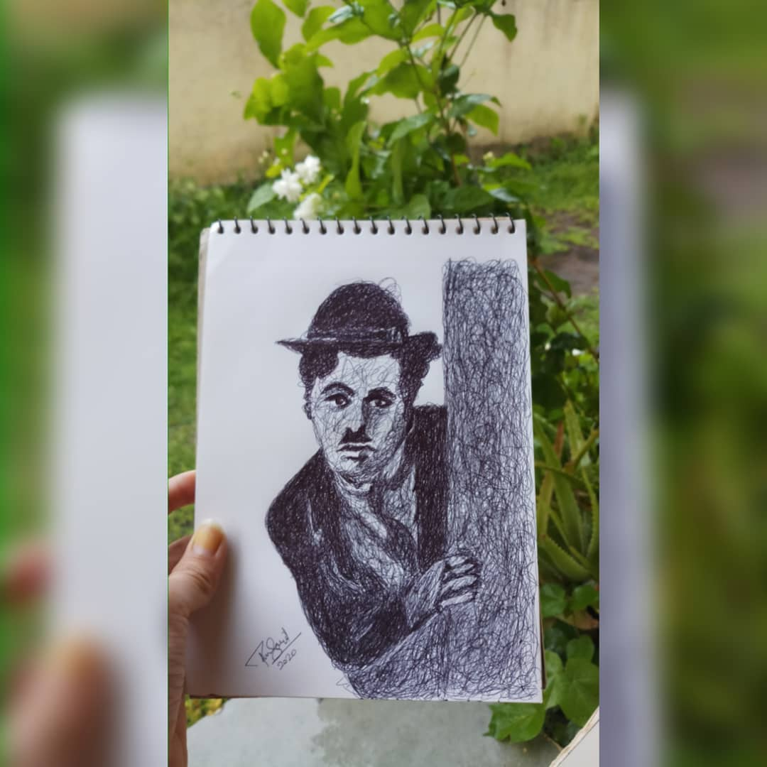 """Scribbling art """"A day without laughter is a day wasted""""- Charlie Chaplin #Charlie #chaplin #artistsontwitter #art #Twitter #TwitterOfTime #scribbling #Artist #artistsupport #artistworkspace #artists #artworld #arte #ArtisticofSociety #artisticphotos #artistic #Artist100pic.twitter.com/cPBQPy1qF7"""