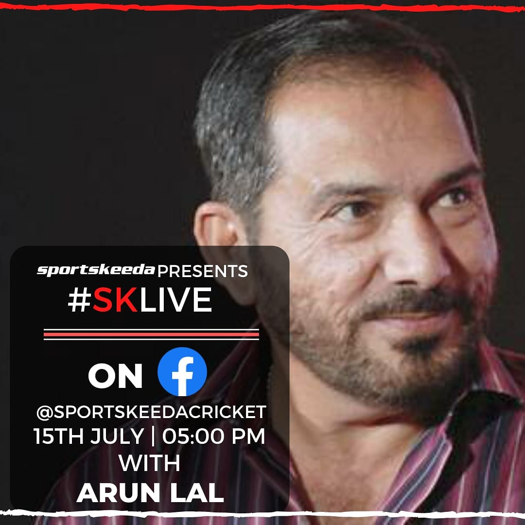 Today on #SKLive we have Arun Lal  joining us for a conversation. Don't forget to tune in at 5 PM as we talk to the former cricketer and ace commentator. https://t.co/8AGvsFAVHa