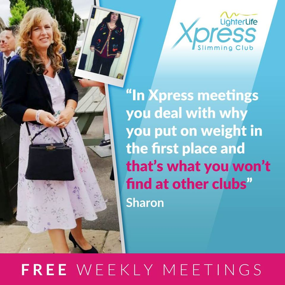 LighterLife Xpress is somewhere Sharon can pop along and share the love. Come and join your local Xpress meeting - it's FREE. Contact caroline.butson@lighterlifementor.com  #weightlossjourney #lighterlifexpressbath #lighterlifexpresscorshampic.twitter.com/jRlTvUCeUK