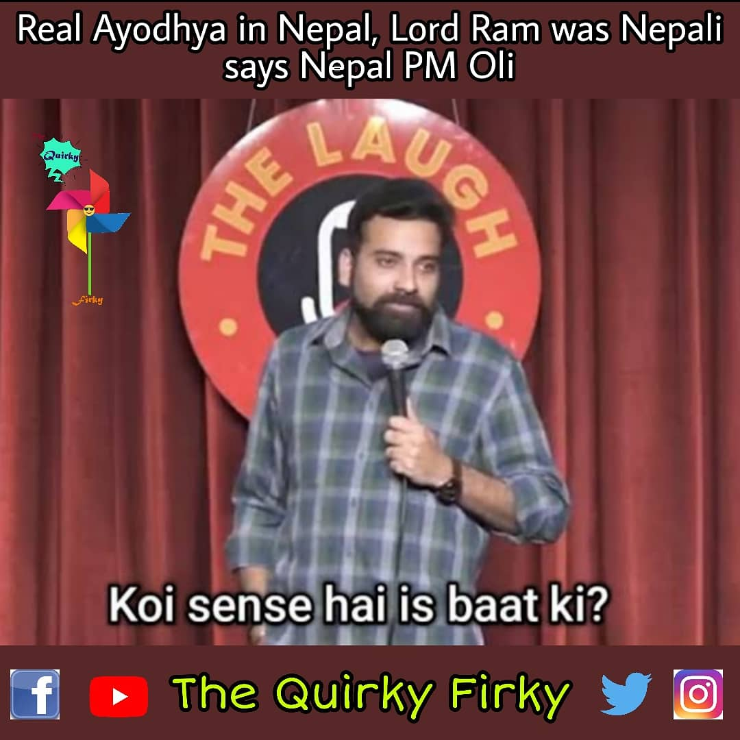 Nepal PM statement on Ram Ji - Ayodhya ft. Anubhav Singh Bassi!  Follow @TheQuirkyFirky for Memes and Edits!  #NepalPM #NepalPMKPSharmaOli #nepalpmonAyodhya   #anubhavsinghbassi #anubhavbassi #baskarbassi   #memesdaily #memes2020 #MEMES #indianmeme #indianmemes #indianmemepagepic.twitter.com/lTd954F7ck