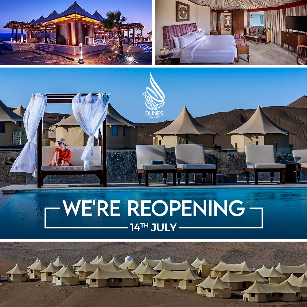 Dunes By Al Nahda | Reopening! https://tinyurl.com/y865t2ak  #Reopening #Oman #LuxuryResort #WelcomeBack #DunesByAlNahda #DesertResort #travel #MyOman #TravelToOmanpic.twitter.com/YoxmB6AqgX