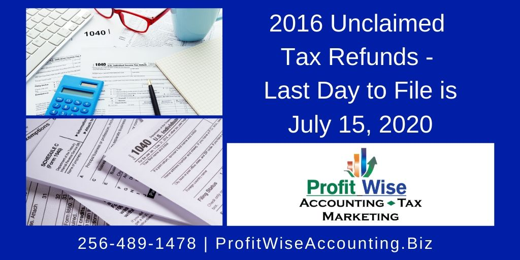 Are you behind on your taxes? If you haven't filed for 2016, you must file by July 15, 2020 to receive your 2016 refund. Call 256-489-1478 or message us now.  #TransformationTuesday #Work #IRS #IRSNotice #IRSHelp #Refund #Entrepreneur #TaxHelp #BackTaxes #HuntsvilleAL