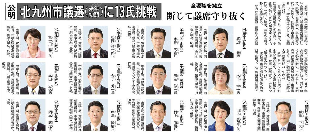 結果 選挙 市議会 北九州 議員 2021