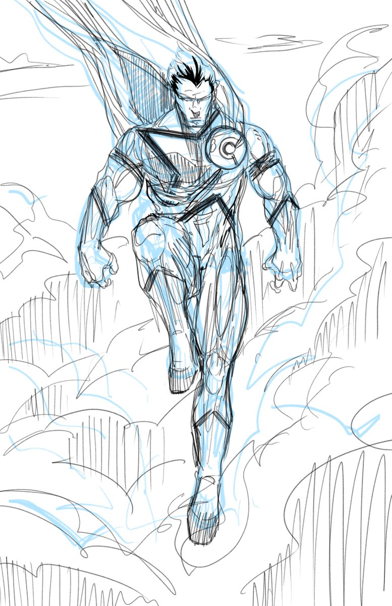 And another rough #sketch of an #indie hero I designed a few years ago for @championcomicsgroup this is Max Champion a #Superman kinda character. #wacom #clipstudiopaint #scifi #comicart pic.twitter.com/uTojfmTjj5