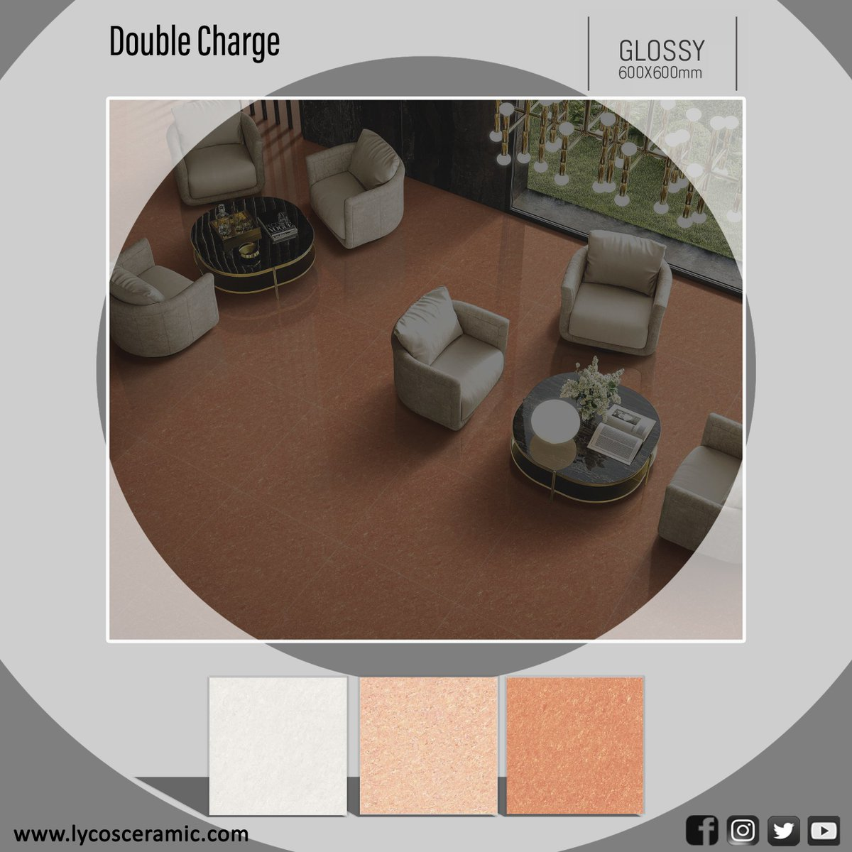For all the places you Love Porcelain Floor Tiles #DoubleCharge Tile Size: 60x60 CM Check out more designs: http://www.lycosceramic.com/tile  For Catalogue Email: export@lycosceramic.com  #FloorTiles #Flooring #GlossyFinish #PorcelainTile #VitrifiedTile #TileDesign #LycosCeramic #Lycospic.twitter.com/j1r6bUELcp