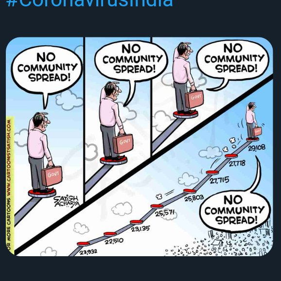 No #CommunitySpread .................. #CommunityTransfer  #India fights ? #CoronaPandemic pic.twitter.com/XWj4h2wkGL