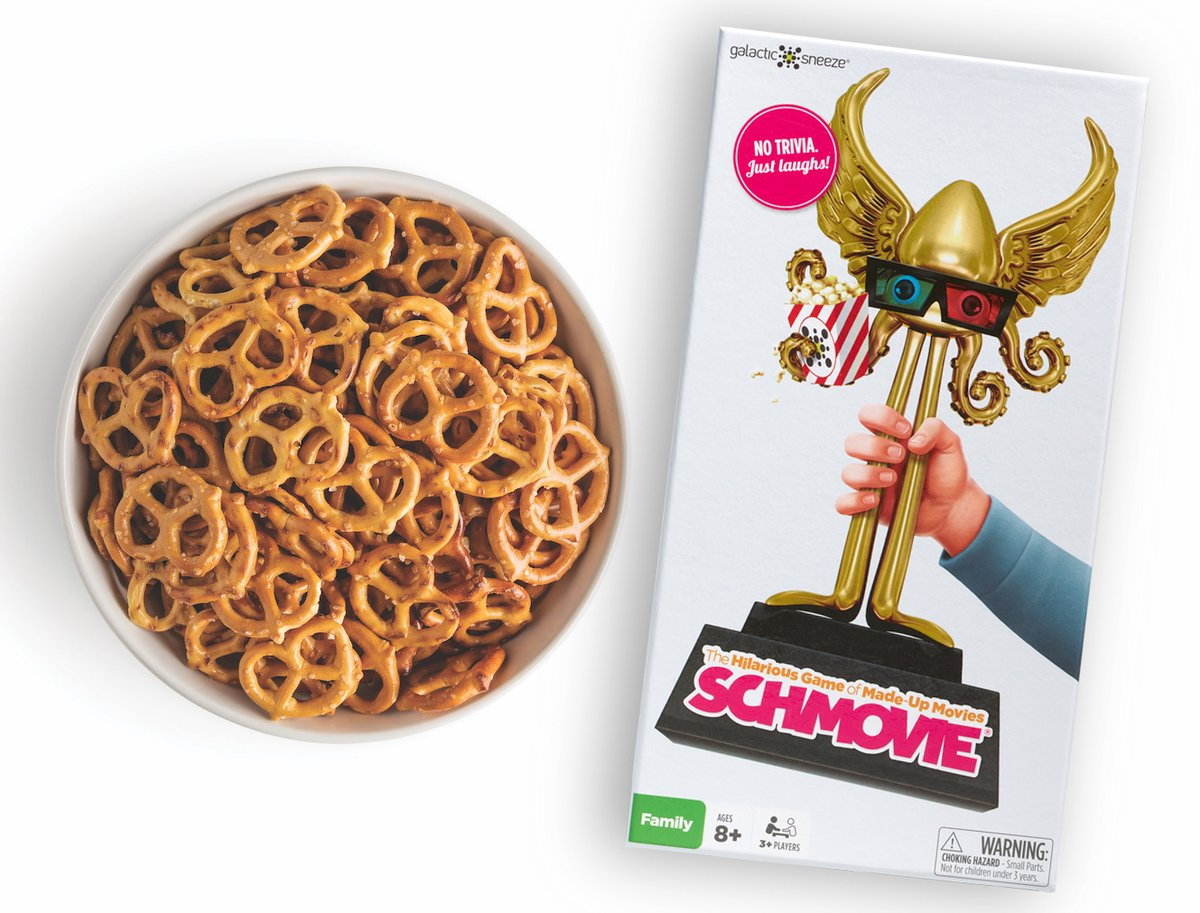 Turn snacktime into Schmovie time! ;) #movies #movienight #boardgames #gamedev #film   https://www.amazon.com/dp/B014RVKL9W pic.twitter.com/BnQtOCkrtl
