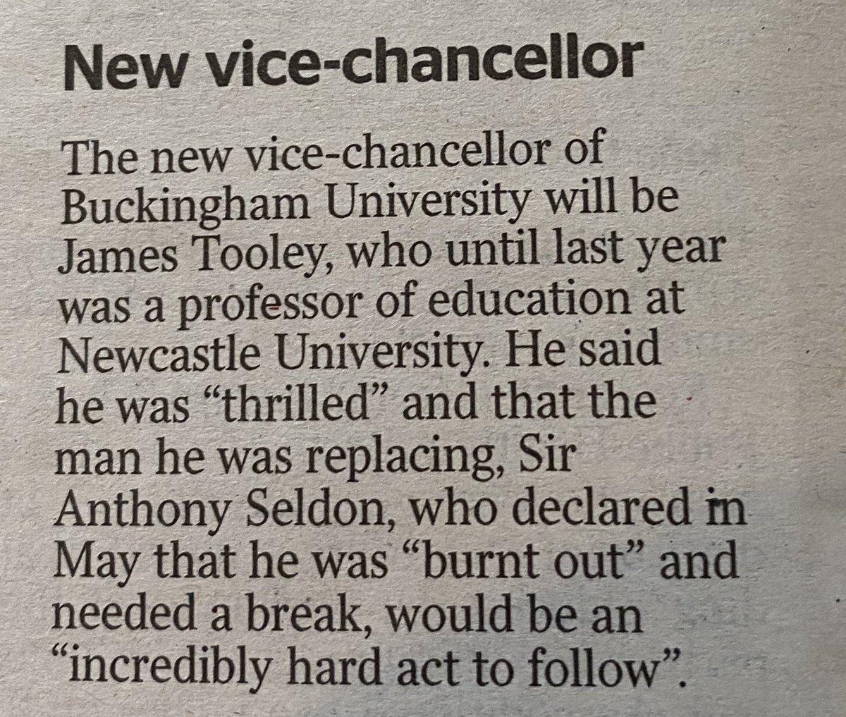 Great news for the University of Buckingham!