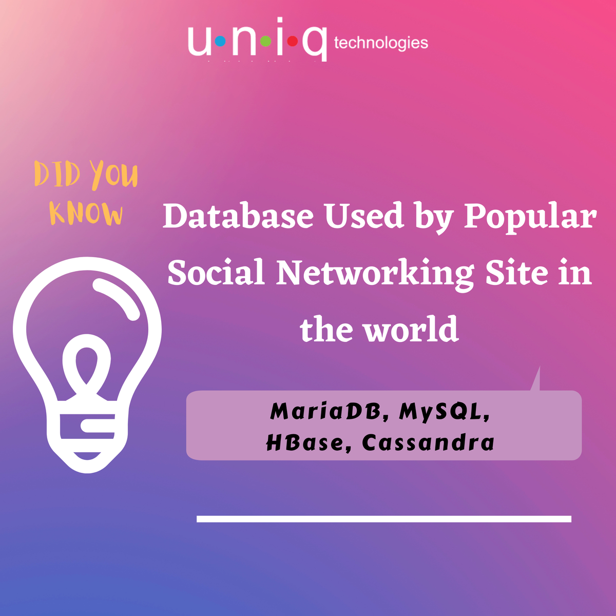 Database Used by Popular Social Networking Site (Facebook) in the world  #techquestion #social #network #billiondollar #revenue #question #updates #studentupdate #Learning #uniqtechs #training #didyouknow #reports #diduknow #learndaily #unbeatable #knowledgegrowth https://t.co/SCQNx2caHg