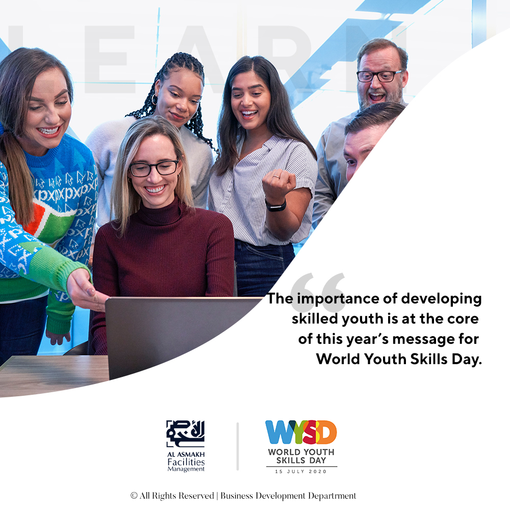 The importance of developing skilled youth is at the core of this year's message for World Youth Skills Day.  #WorldYouthSkillsDay #2020 #Skills #Learn #Train #Lead #Youth #Young #Minds #Work #Force #future #Qatar https://t.co/Y11vWdsrly