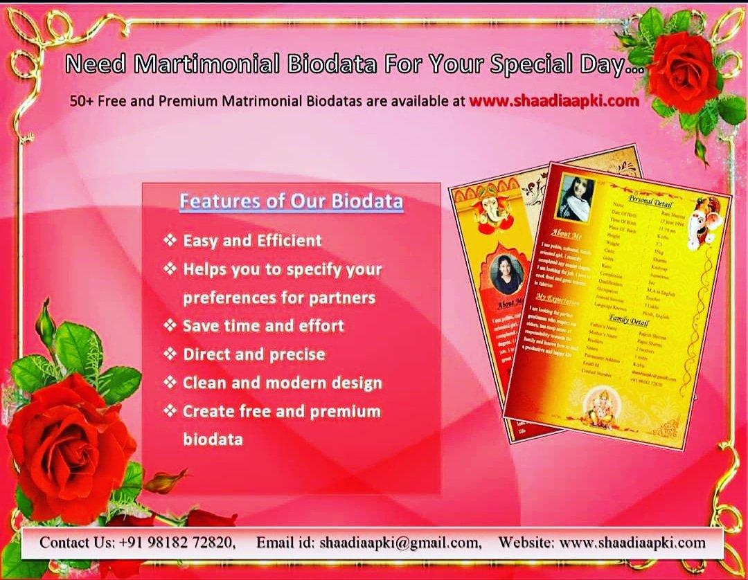 http://shaadiaapki.com/matrimonial-biodata/premium-matrimonial-biodata-templates…         Need Matrimonial biodata -Get 30% off on all biodata. #matrimonialbiodata #Templates #Biodatapic.twitter.com/RHTxyLcc1J