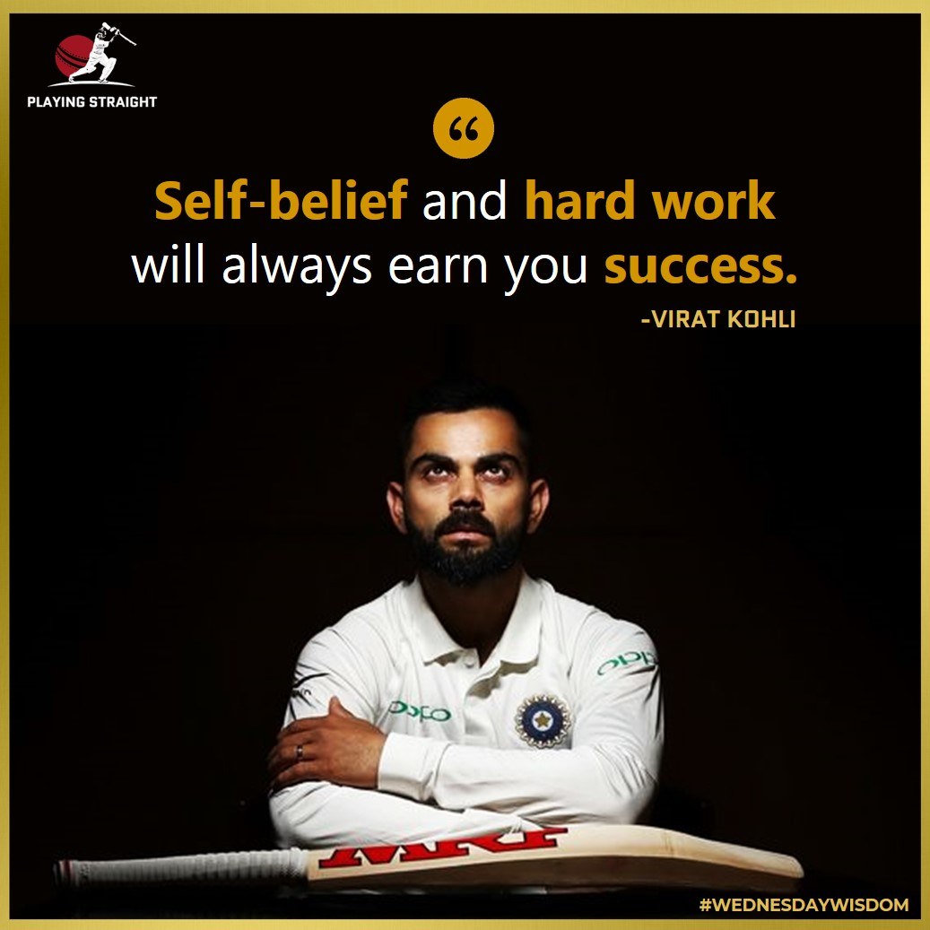 """An #inspiring #quote from Virat Kohli! 👊  Tag a #ViratKohli fan you know or """"RT"""" this post to your #Friends !  #WednesdayWisdom #WednesdayThoughts #WednesdayMotivation #india #Cricket #virushka #TeamIndia #CricketConnected #Cricketer #quoteoftheday #quotestoliveby #Legend #GOAT https://t.co/qmPgB6jWiS"""