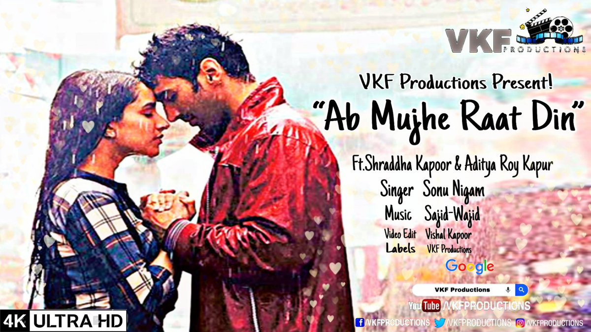 Ab Mujhe Raat Din Recreated 1.0 Ft. @ShraddhaKapoor @AdityaRoyKapur  Music on @YouTube at #VKFProductions . . . #ShraddhaKapoor #AdityaRoyKapur #Bollywood #bollywoodmusic #abmujheraatdin #instagram #music #LoveMusic  https://youtu.be/vZcM_4_NrDwpic.twitter.com/jcpJjx5rte