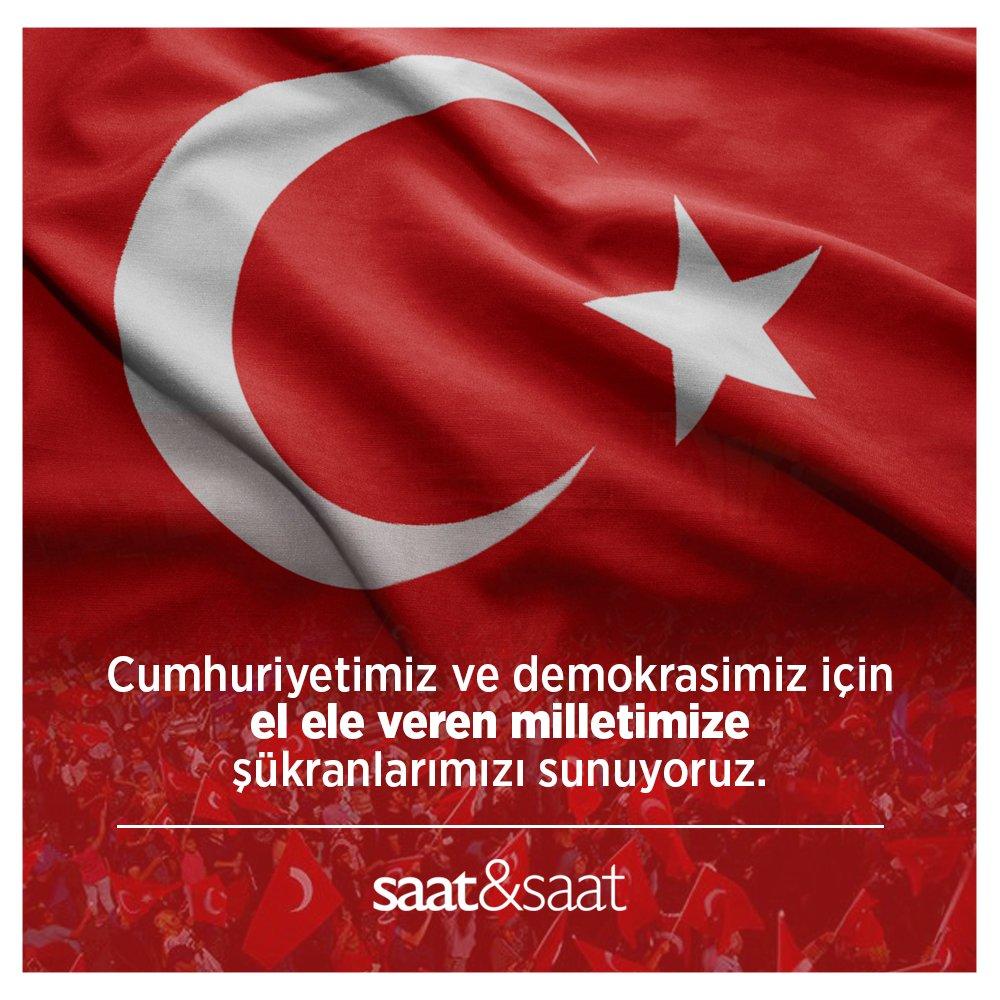 15 Temmuz Demokrasi ve Milli Birlik Günü'nde cumhuriyetimiz ve demokrasimiz için mücadele eden tüm şehit ve gazilerimizi minnetle anıyoruz.  #15Temmuz #DemokrasiveMilliBirlikGünü https://t.co/IjdEYBi5oS