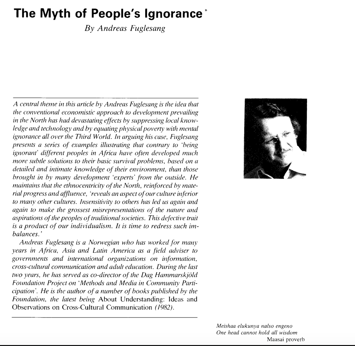 PS. H/T  @HenningMelber the article (not book) by Andreas Fugelsang on the story at the heart of this story is actually freely available through this link from  @DagHammarskjold:  http://www.daghammarskjold.se/wp-content/uploads/1984/08/84_1-2.pdf