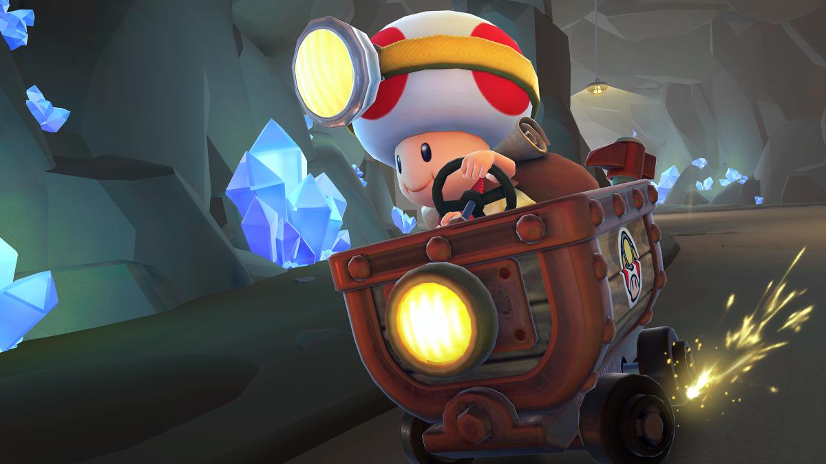 test ツイッターメディア - 大きなヘッドライトに、背中にはリュックを背負い あのキノピオ隊長が、マリオカートツアーに新登場!  スペシャルアイテムの「ハンマー」片手に洞窟を突き進む!  #マリオカートツアー https://t.co/TTMK1L3C2q