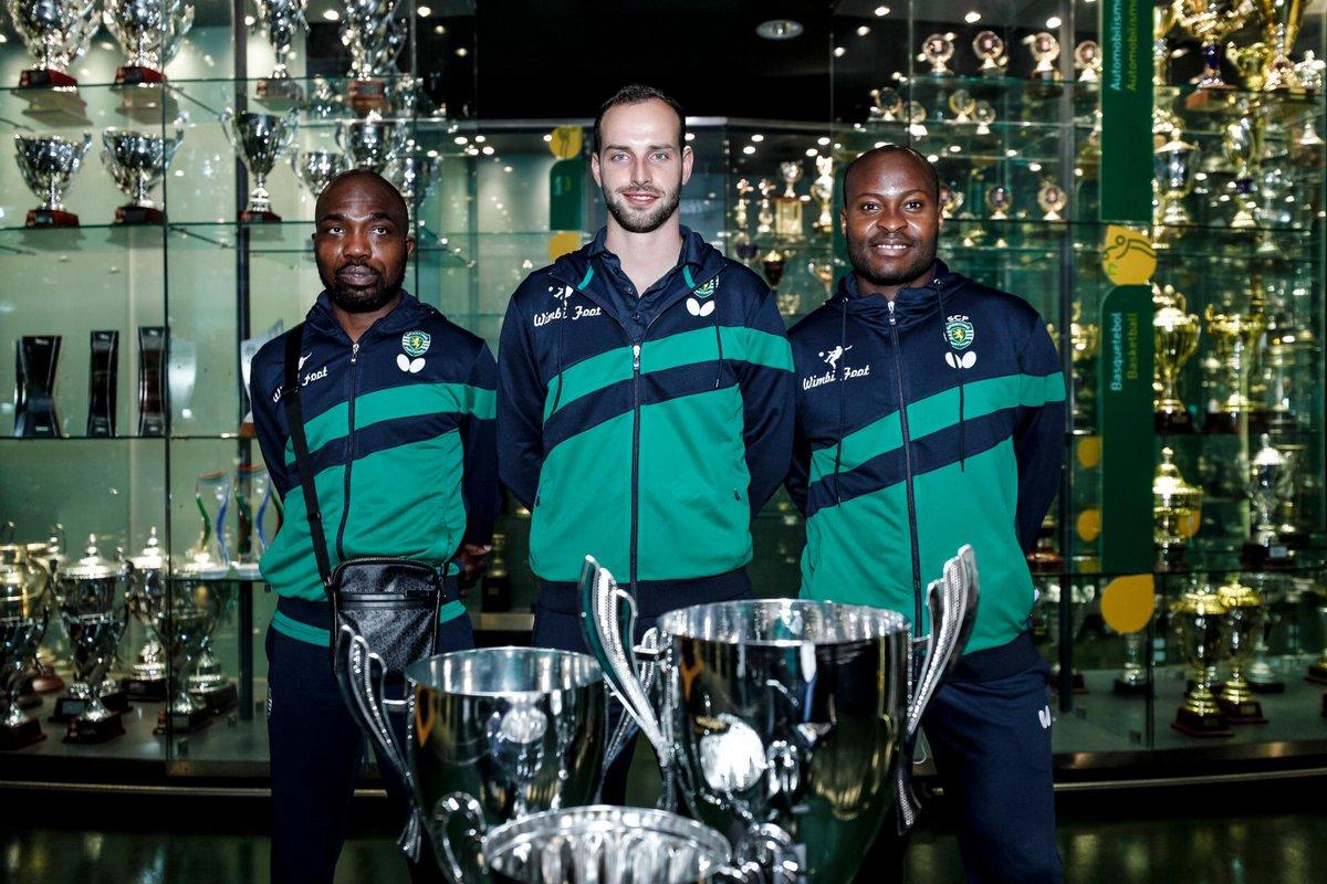 O #TénisDeMesaSCP já entregou ao Museu Sporting os três troféus conquistados em 2019/2020. 🏆  Os Leões venceram a Supertaça, Taça de Portugal e o Campeonato Nacional 🤩 https://t.co/Kse1hu14HL