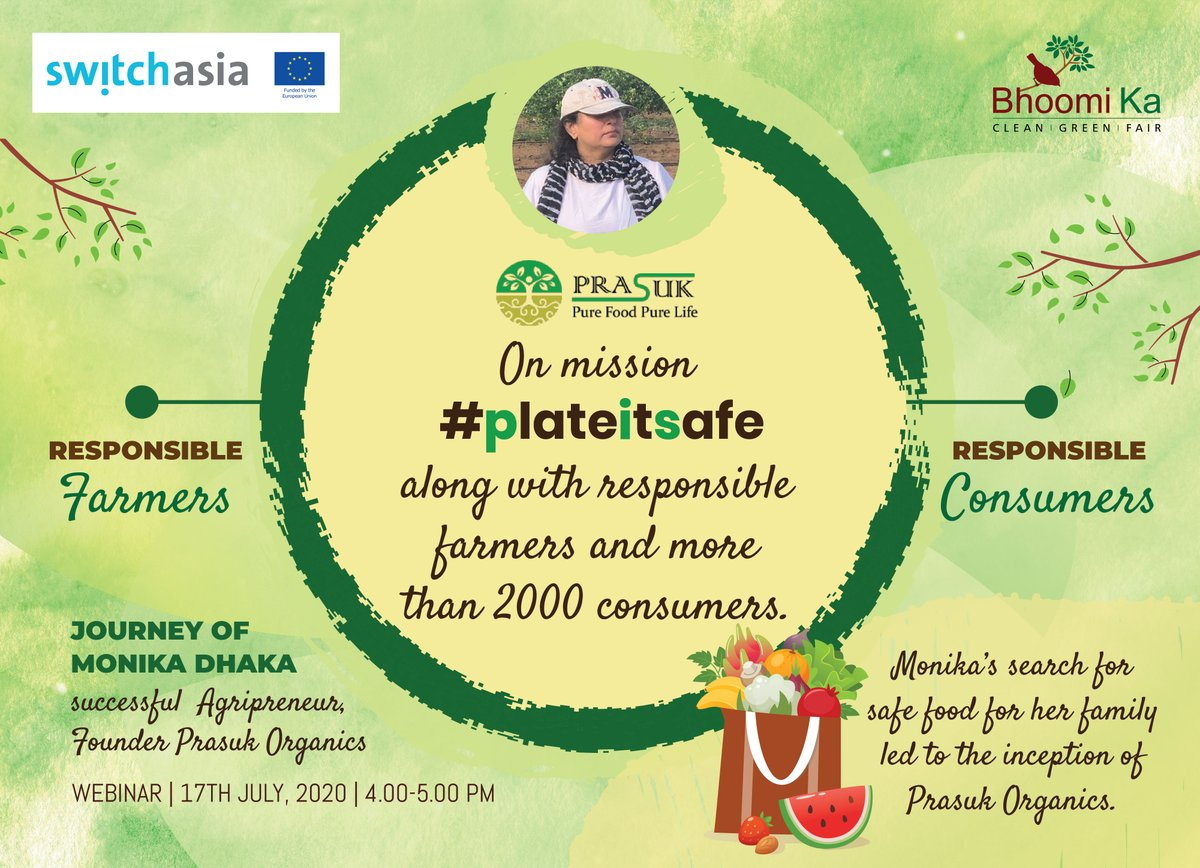 Hear it from Monika, Founder Prasuk Organics, how we can reverse the damage done to our health, farmers & environment with an eco-friendly food supply chain.  #TransformingFoodSystems #PrasukOrganics @EU_in_India @WHH_India @IGSSS  Registration link : https://forms.gle/HiwTFY2JrsvxNeBF7 …pic.twitter.com/Jh5zPmDFB5