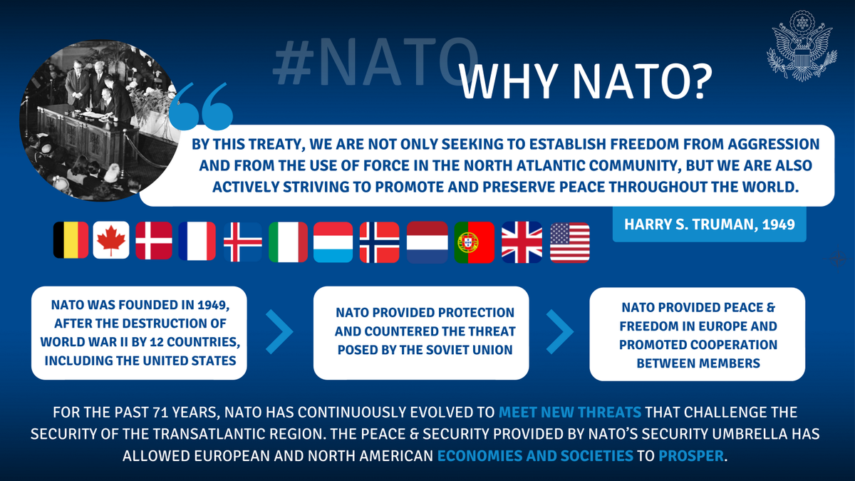 Building on its historic role as a guarantor of peace & security, @NATO constantly evolves to meet emerging challenges, including the fight against #COVID19. https://t.co/g6UBppYBDb