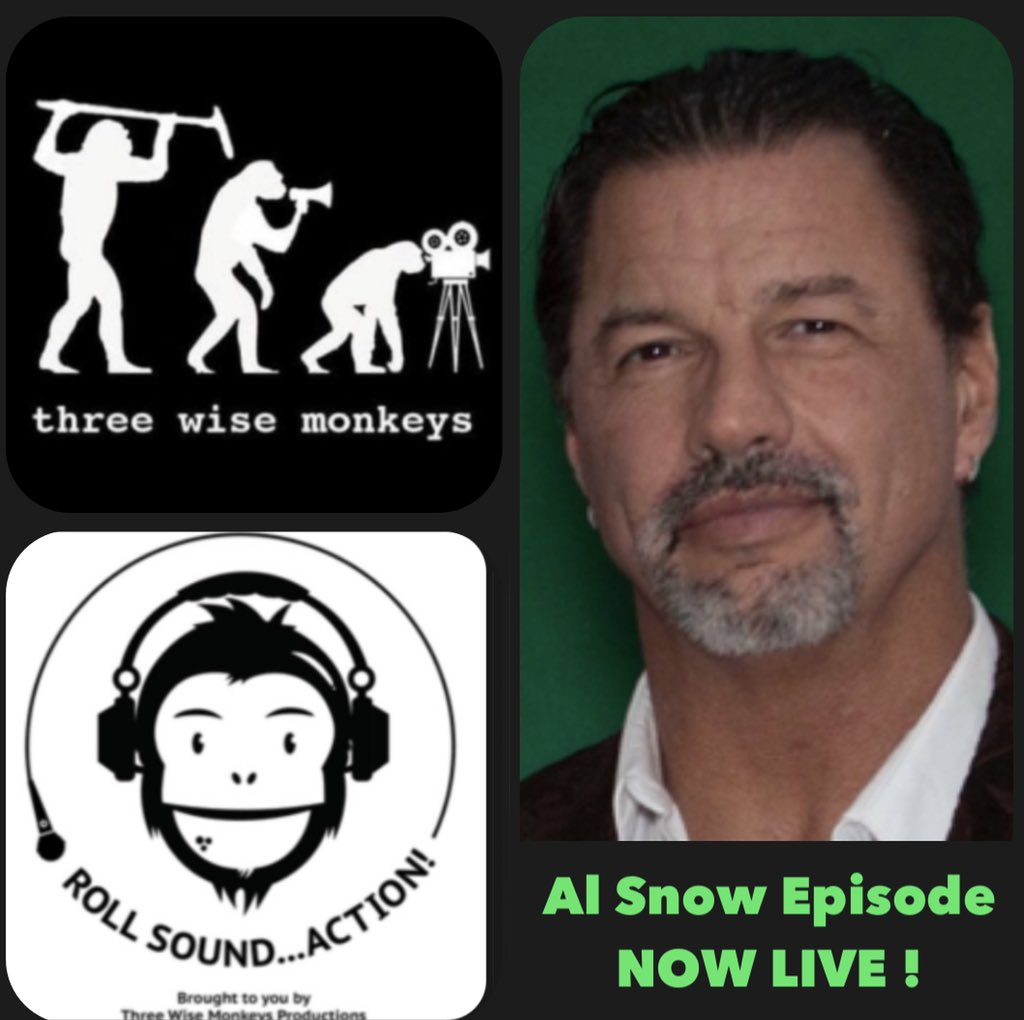 Episode 3 of 'Roll, Sound..Action!' is now live! Were joined by our good friend @TheRealAlSnow ,a former @WWE #wrestler who now runs @ovwrestling Available in all the usual podcast places @Itunes @spotifypodcasts @applemusic @global @spreaker spreaker.com/user/12609796/… #podcast