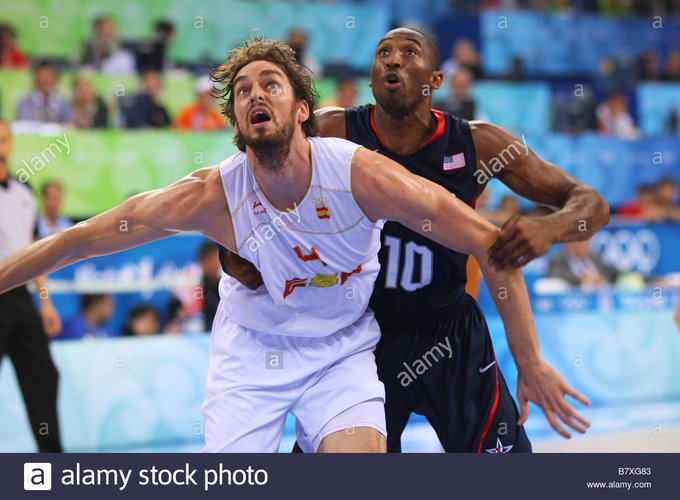 Pau at the Olympics.  20 pts 8 rebounds 2 assists 1 block in 31 games.  Being defended by Dwight Howard and LeBron James, he stood up vs 2 of the 3 best USA teams in history with some Spanish League players and Average NBA players.  Max. scorer at 2 Olympics. pic.twitter.com/kGhw57Bur0