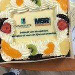 Wat een verwennerij! @MSRverhuur trakteert Mainstaete als dank voor de samenwerking. 🎂