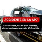 Image for the Tweet beginning: Cinco heridos, dos de ellos