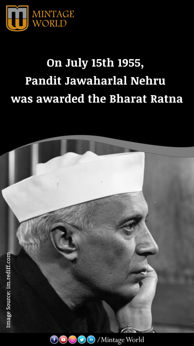 Prime Minister Pandit Jawaharlal Nehru was awarded #BharatRatna by the President of India Dr Rajendra Prasad in 1955.  Buy stamps: https://bit.ly/30522Us pic.twitter.com/OBSKxVvKQu