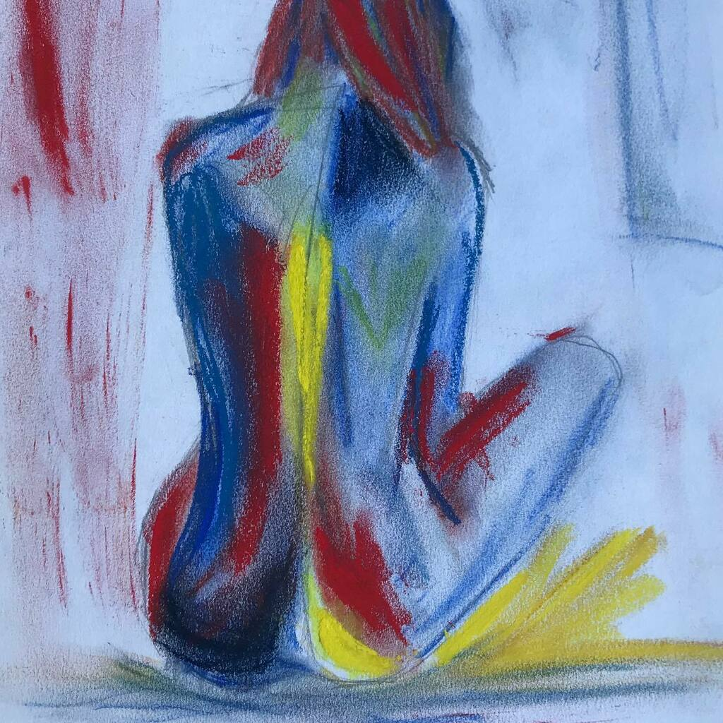 WOMAN #dailysketch 20x30cm. Pencil, oil crayon, chalk crayon, on paper.   INFO: Link in my profile. #painting #loveart #study #museum#bed#sad#beauty#sketch  #art #artistsoninstagram #nude #paintingoftheday #woman #meid#girl#akt##endless #natu… https://instagr.am/p/CCp-4Ooqet-/ pic.twitter.com/dPPioP9xBo