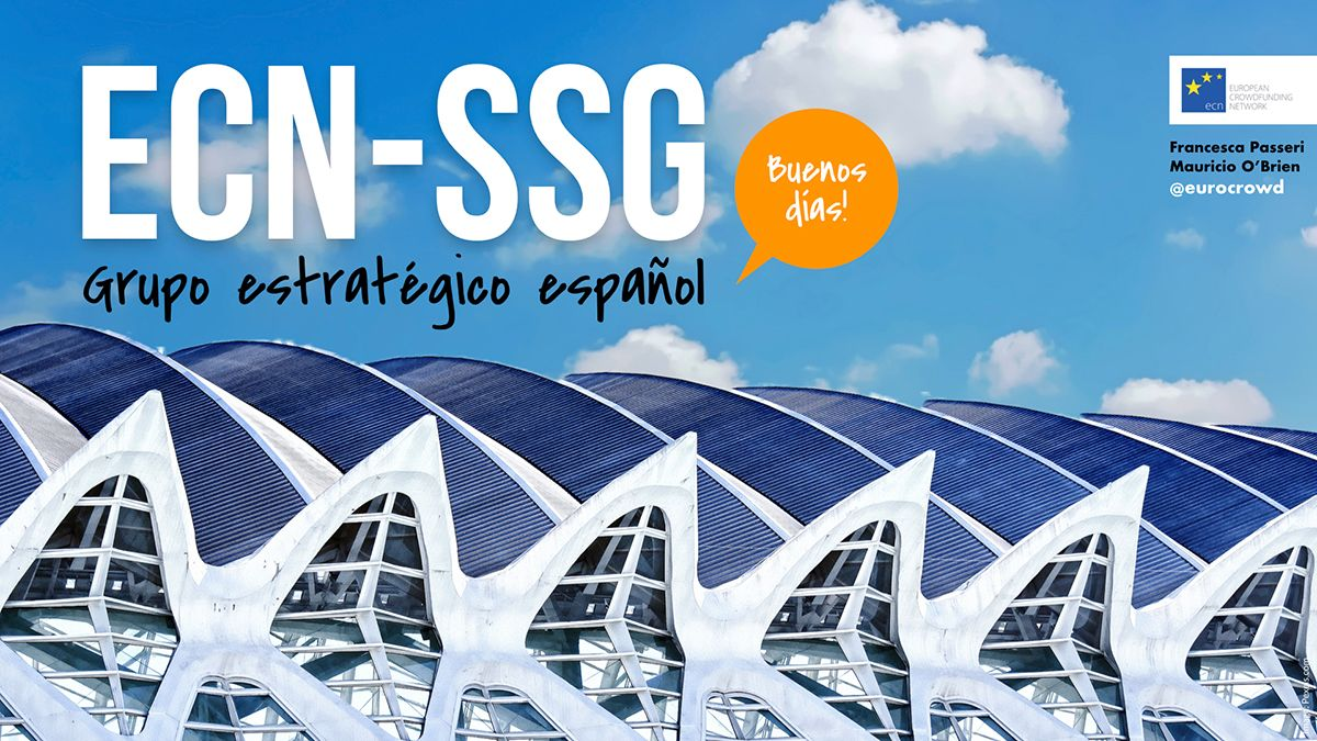 🗓️Today and tomorrow, we'll be arranging different info-sessions on the ECN's Spanish Strategic Group (ECN-SSG). Check which is our specific focus at our website https://t.co/qlw2pHgrMb #CF4ESI #ECNssg and a lot more resources on #crowdfunding https://t.co/QqztlJUeb3