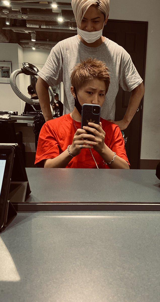 心機一転 5年ぶりに短髪と髪明るくしたよ(*´꒳`*)🔥渋谷のカリスマ美容室こと高橋和希の手によりナイスな夏男になりました👍👍#newhair #lwis