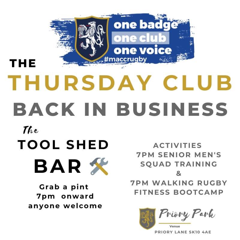test Twitter Media - The Thursday Club is back in Business!   Pop down this Thursday 7pm onward for a pint at the Tool Shed Bar. If you can't make it we are open again this Saturday 12:30pm. https://t.co/FlVwlNRTGr